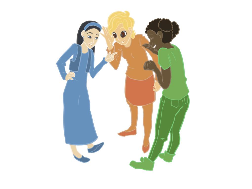 Eine Gruppe von Mädchen erzählt miteinander