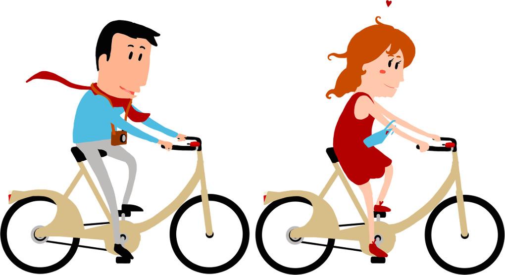Paul fährt Fahrrad