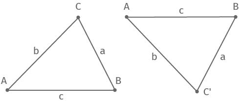 2 kongruente Dreiecke