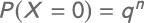 Formel Misserfolgswahrscheinlichkeit Bernoulli-Experiment