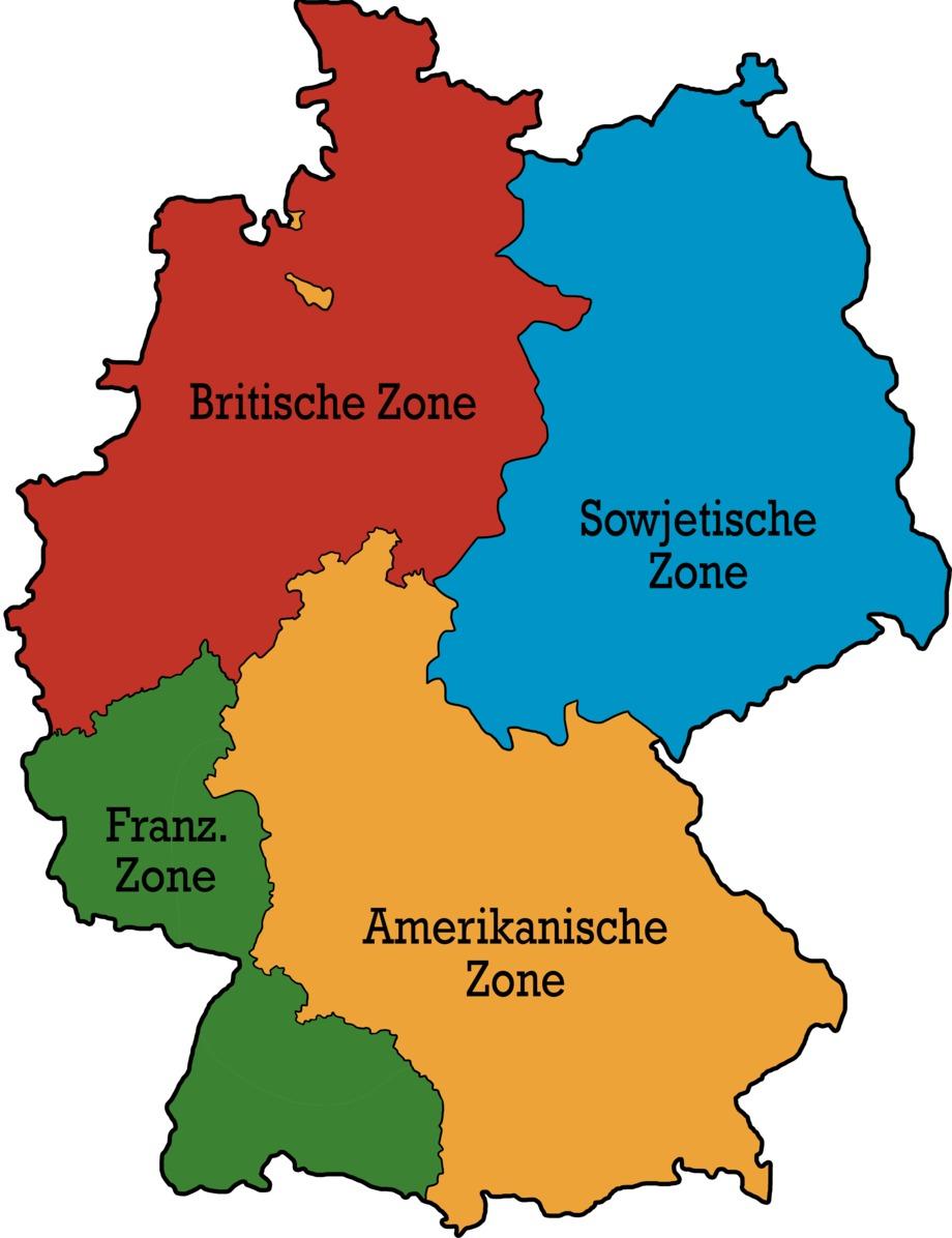 4 Besatzungszonen in Deutschland