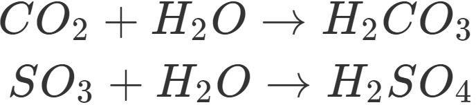 Entstehung von Säuren aus Nichtmetalloxiden