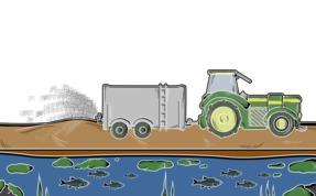 Gewässerverschmutzung durch Düngung