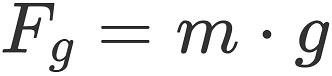 Physikalische Kraft: Gewichtskraft