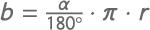 Formel zur Berechnung der Länge des Kreisbogens