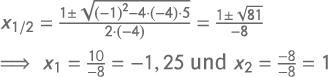 abc-Formel / Mitternachtsformel Beispiel
