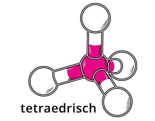 Tetraedrische Molekülstruktur