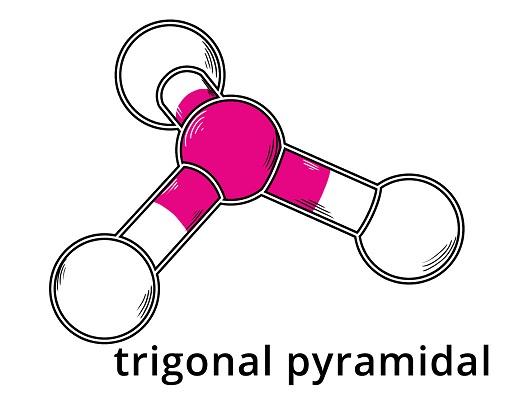 Trigonal pyramidale Molekülstruktur