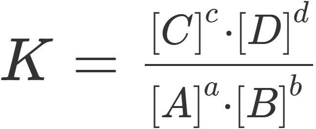 allgemeine Formel zum Massenwirkungsgesetz
