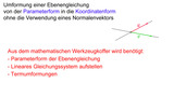 Von der Parameterform in die Koordinatenform