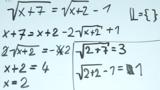 Wurzelgleichungen – Aufgabe (7)