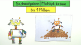 Sachaufgaben Multiplikation bis 1 Million