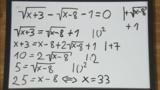 Wurzelgleichungen – Aufgabe (9)