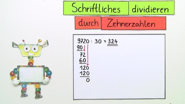 Schriftliche Division durch Zehnerzahlen u2013 Mathematik ...