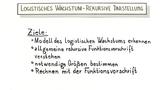 Logistisches Wachstum – Rekursive Darstellung (1)