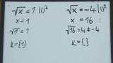 Wurzelgleichungen – Aufgabe (1)