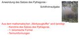 Satz des Pythagoras – Schilfrohraufgabe