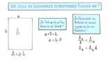 Quadratische Gleichungen zu rechteckigen Flächen aufstellen und lösen (1)