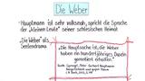 """""""Die Weber"""" – Interpretationsansatz und Rezeptionsgeschichte (Hauptmann)"""