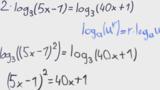 Logarithmusgleichungen lösen – Übung (7)