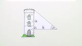 Trigonometrische Berechnung am rechtwinkligen Dreieck