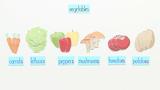Fruit and Vegetables – Vokabeln zum Thema Obst und Gemüse