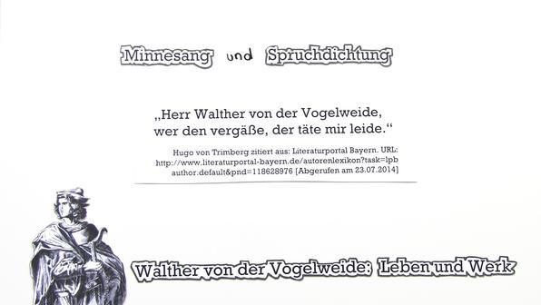 Walther von der Vogelweide lebensdaten