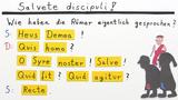 Wie spricht man lateinische Wörter richtig aus?