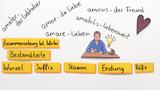 Wie setzen sich lateinische Wörter zusammen?