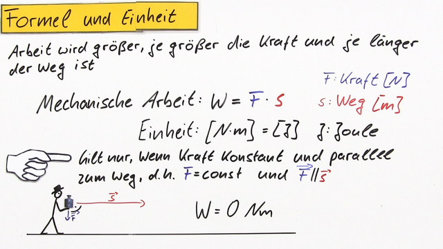 Mechanische Arbeit Physik Mechanische Arbeit – Physik –