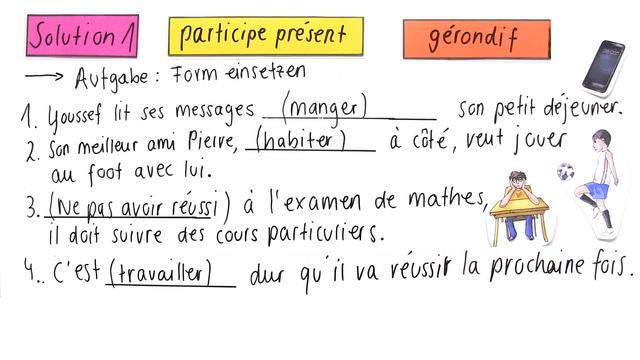 Participe Présent oder Gérondif (Übungsvideo)