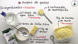 Rezept auf Spanisch: Arepa con queso