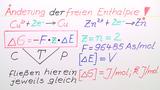 Berechnung der EMK und freien Enthalpie einer Wasserstoff-Brennstoffzelle