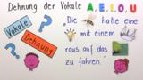 Dehnung der Vokale: a, e, i, o, u