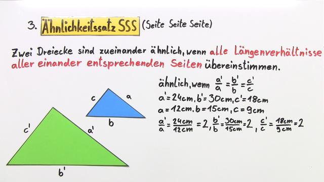 Ähnlichkeitssätze für Dreiecke