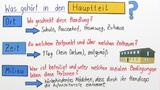 Einen Erzähltext interpretieren - Hauptteil