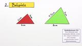 Ähnlichkeitssätze für Dreiecke – Beispiel (2)
