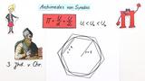 Näherungsverfahren von Archimedes zur Bestimmung der Kreiszahl PI