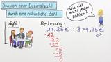 Dezimalzahlen durch eine natürliche Zahl dividieren