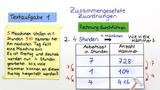 Dreisatz – proportionale und antiproportionale Zuordnungen