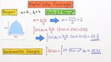 Numerische Integrationsverfahren – Keplersche Fassregel
