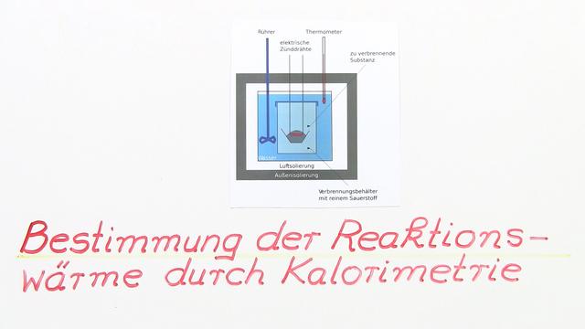 Bestimmung der Reaktionswärme durch Kalorimetrie