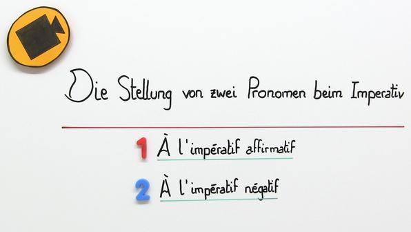 19383 die stellung von zwei pronomen beim imperativ