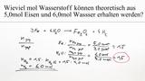 Reduktion von Wasser – Berechnung (Übungsvideo)