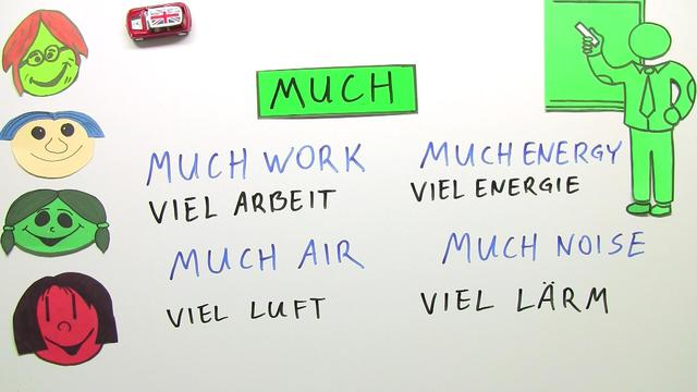 Quantifiers: much, many and a lot of