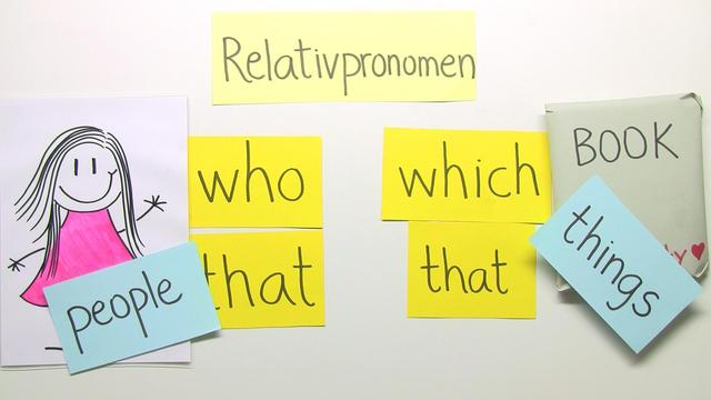 Relative Pronouns: who, which and that