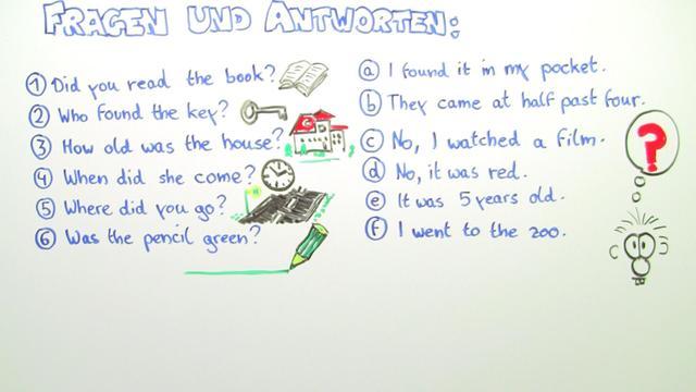 Simple Past – Frageform (Übungsvideo) – Englisch online lernen