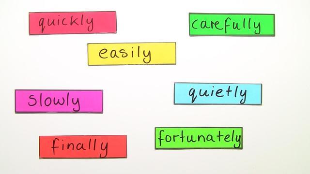 Adverbs of Manner – Satzstellung