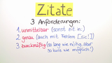 Zitate und Paraphrasen