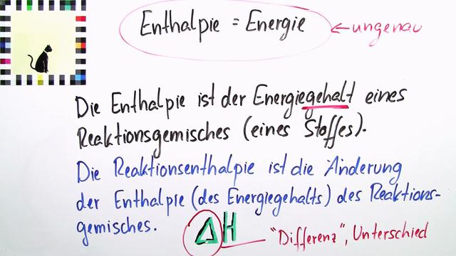 Satz von Hess – Berechnung der Reaktionsenthalpie